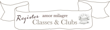 amormilagre.com Classes & Clubs register now, starting in March 2017.