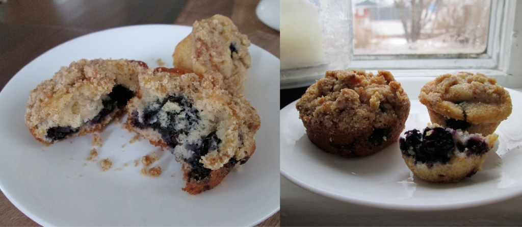 Wintery Blueberry Muffins with Crumb Topping, Photography by amormilagre.com