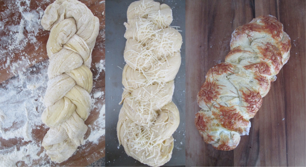 Sea Salt Parmesan Challah Bread. Photography by amormilagre.com