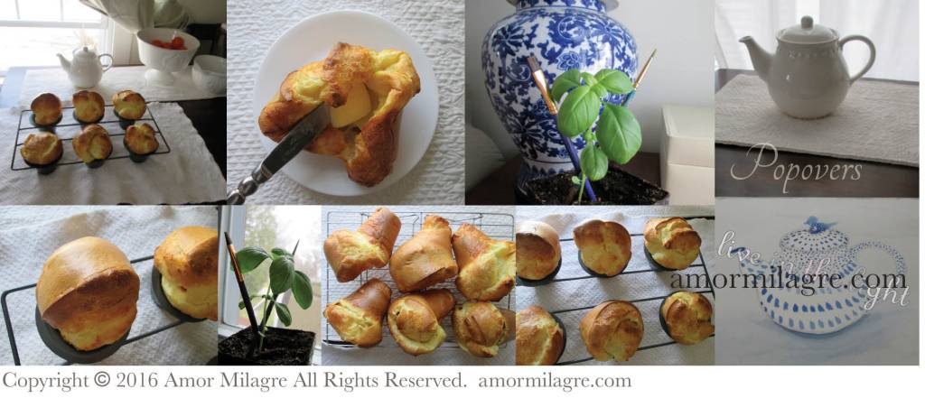Popover Recipes. Photography and Recipes by amormilagre.com, Original Artwork in our SHOP!