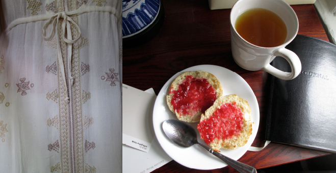 Gypsy Tea and Raspberry Preserves on an English Muffin, Photographs by amormilagre.com