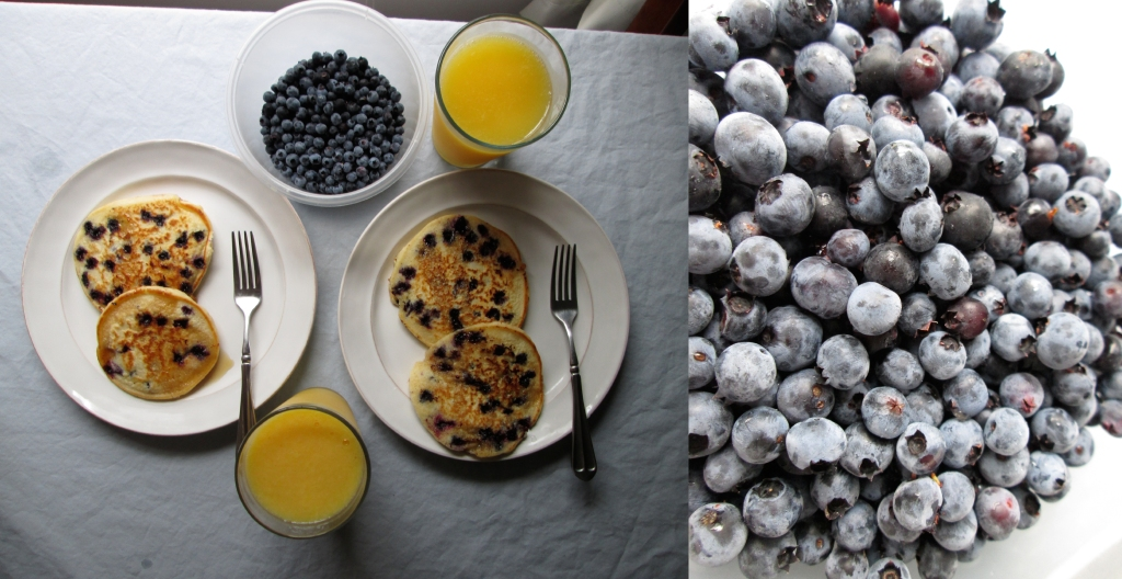 Wild Blueberry Pancakes and Mini Meatballs Recipes, Photography by amormilagre.com