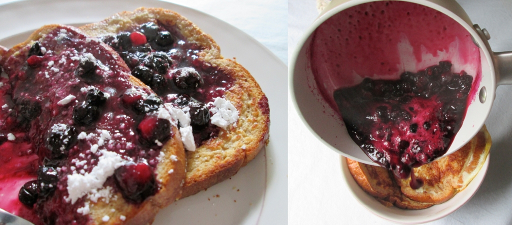 Wild Blueberry French Toast Recipe, Photography by amormilagre.com