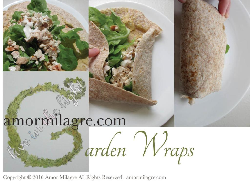 Garden Wraps Recipe, Photography by amormilagre.com llustrated 'G' Garden Letter now in our SHOP!