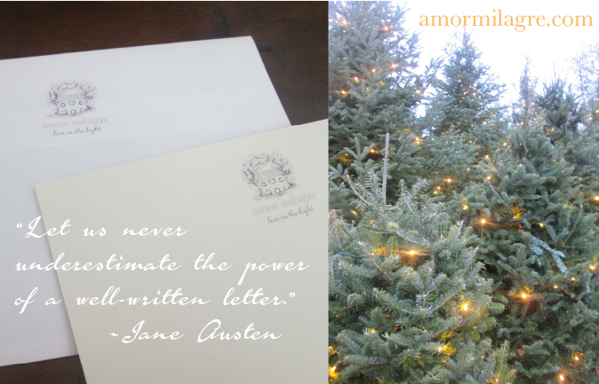 """December Snow Recipes, Shoe Design Book, and Photography by amormilagre.com Organic Recipes, Paleo, Healthy. Artwork, Custom Stationery, Organic Apparel, and Custom Gifts. """"Let us never underestimate the power of a well-written letter."""" quote by Jane Austen. Christmas Trees Lights Train Set Display Ice Skating Rink Holiday Upcoming Greeting Cards, Tomato Tart, Coconut Ginger Fish"""