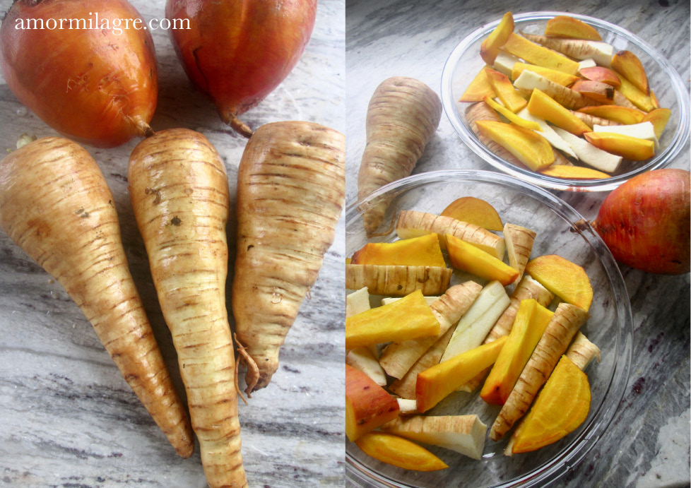 Golden Afternoon Recipe and Photography by amormilagre.com Organic, Vegan Vegetarian, Plant-based, Healthy. Artwork, Stationery, Organic Apparel, and Custom Gifts. Baby and Me Meal Snack, Roasted Golden Beet & Parnsip Fries Chips, Garlic Mashed Potatoes, Sweet Potato & Potato Homefries, Fresh Garden Produce Vegetables, Homemade Applesauce, Cucumbers, Beet Root and Leaves, Sugar-Free, Oil-Free. Family Meals.